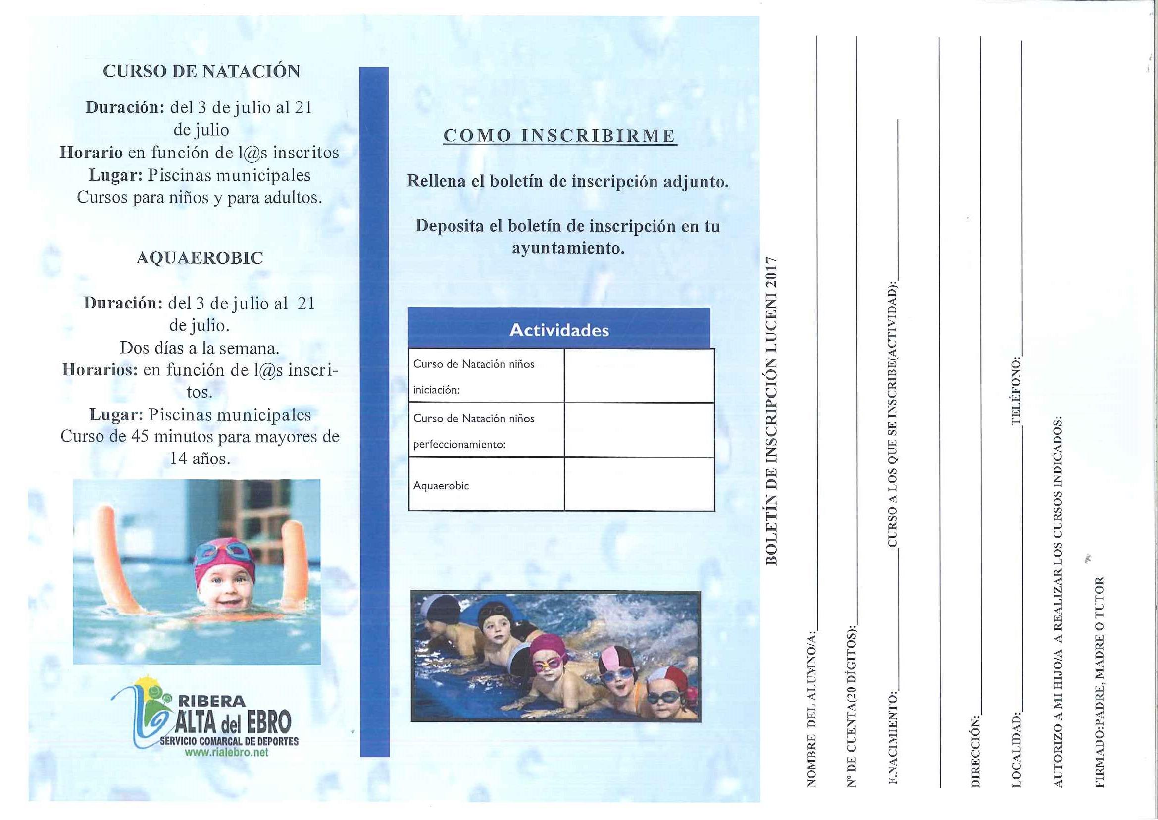 Bienvenidos a la web oficial del ayuntamiento de luceni for Curso piscinas